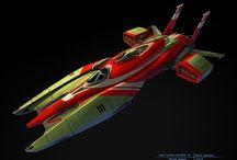 Space Ships - Futuristic Vehicules
