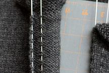 fermeture éclair sur un tricot
