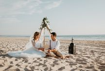 Vestido noiva boho / Casar na praia, elopment, decoração, detalhes de casamento na praia, casamento romântico