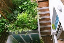 Herne Hill | Our Work / As is often the case, working with smaller gardens and maxmising the space is often harder than larger areas requiring maximum attention to detail. This scheme combined the more industrial appearance of hot dipped galvanised planters, opposed to powder coated, which works so well with planting of this sort.