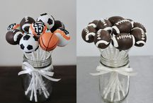 Sports Cake Pops by Sweet Lauren Cakes / by Sweet Lauren Cakes