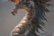 Dragons, Princess and Fairies / Berbagai macam naga, putri dan peri