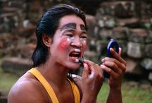 Phare Makeup / Make-up time for Phare artists ! #circus #SIemReap