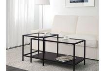konferencni stolek / mas tu vyber stolku z bazaru (jen po Praze) a pak par designovych kousku, ktere jsou drazsi, u jednoduchych hranatych se sklem bych premyslela o jednoduche vymene za drevo nebo preklizku.