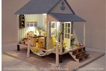 Beach house miniatures