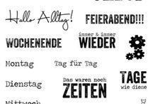 Deutsche Textstempel