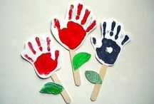 Baby art / 손바닥 찍기를 이용한 꽃만듥ㅣ