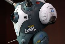 Concept Art Kampfroboter