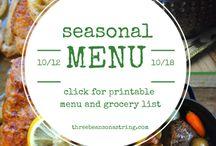 seasonal menus