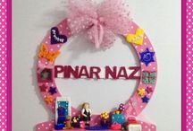 Pinar Naz'in karne hediyesi kapi susu / Kisiye ozel tasarim kapi susu
