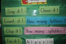 PreK and K Literacy / shared reading, shared writing, storytelling, writing center