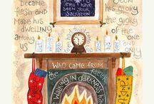 Christian Christmas Cards / Christmas cards with Bible verses and Christmas carol lyrics.