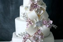 purple and silver cakes