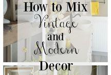 moderm rustic vintage decor