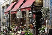 üzlet porta virágos