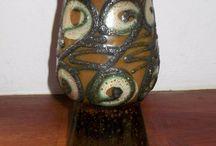 Strehla keramik vase GDR