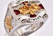 Knights Templar Rings / Unique Customa Designed Knights Templar Rings by Uniqable