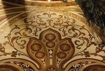 wooden floor and pieces