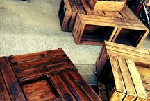 Tables basses caisses pommes by Adopteunecaisse