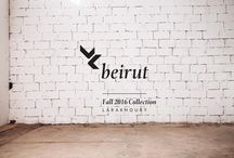 LK Beirut / In this collection, the use of distinct panelling and borders reflects complex and conflicting tensions in Beirut, while fraying edges represent the Lebanese capital coming undone. Feminine asymmetrical cuts subtly depict disorder and imbalance, while string constructions characterize the city's fragility. Geometric cuts, strong fabrics and the use of controlled volume combine to hold the collection together, just as the people's spirit holds Beirut together.