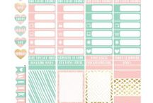 PLANNERS & BULLET JOURNALS / Printables, Page inspiration