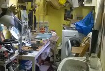 Our artists' messy studios!