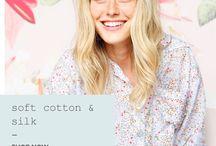 Papinelle Summer Sleepwear / Beautiful cotton silks, soft florals and soft stripes. xx