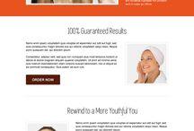 skin care landing page design