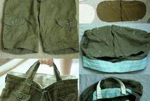 Gerecyclede tassen / Tas van spijkerbroek
