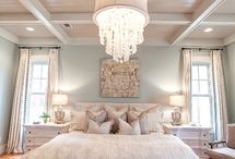 Muted bedroom colors / by Mel