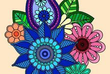 Art / by me all with app Coloring book for Adult