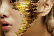 • gold makeup •