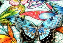 Meus coloridos! / Estou aprendendo a colorir! Amando tudo isso!