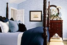 Colonial bedroom style / Some inspiration for a bedroom with dark wooden furniture.