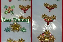 Cluster jewels and gems by Face Fantasy | BodyArt / Cluster jewels handmade by Face Fantasy to really make your facepaintdesign pop!