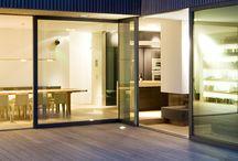 Schiebetüren / Schiebetüren zur Terrasse, am besten mit Profilen von Schüco und gefertigt von Armbruster Bauelemente Karlsruhe.