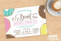PARTY: Donut Party / Crafts, printables, recipes, and party ideas for a fantastic donut party!