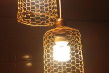 luminárias criada e recriadas e repaginadas , por Rita Galvão Paim