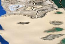 Sergio Fortuna per Livin'art / Serie RIFLESSI: le suggestioni dei riflessi dell'acqua Serie MACROCOSMI: il silenzio e l'imponenza di una cava di marmo come natura morta a cielo aperto