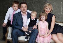 Фотосессия Новый год большая семья