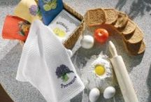 Kitchen Towels / Embroidered and Waffle Towels for Kitchen