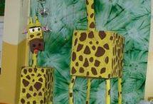 Giraffen und andere Tiere