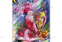 CHRISTMAS CARDS ;STAMPS AND STICKERS
