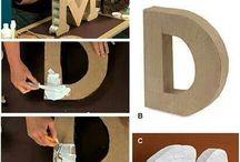 letras carton