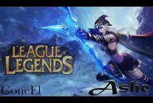 League of Legends - 5v5 Nexus Siege, Ashe Gameplay (LVL 11)