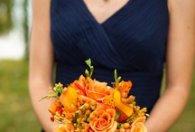 Navy and Orange Weddings