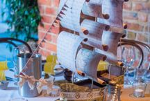 Pirate Ship Table Centrepieces