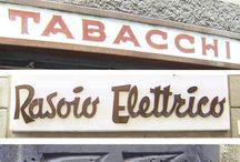 Vintage signage & lettering