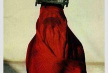MOOD BOARD - red drape photoshoot