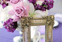 Esküvői dekoráció (lila) - Wedding dekoration (purple)